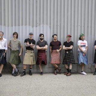 wearing kilts