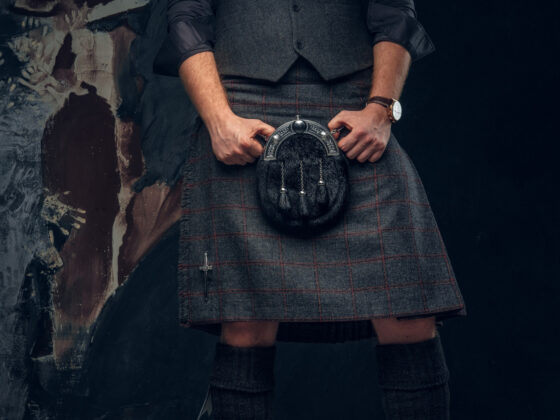 Scottish kilt purse sporran