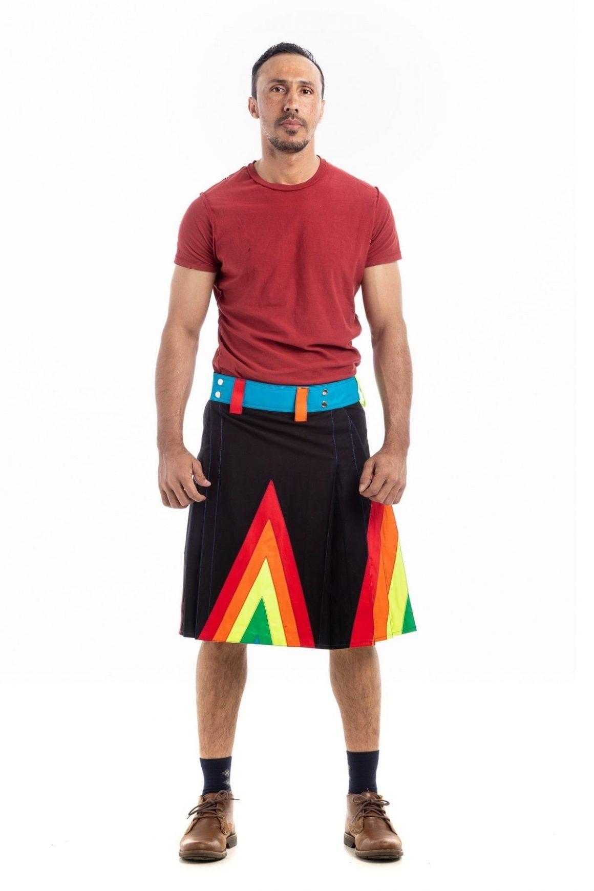 Rainbow Kilt For Stylish Man