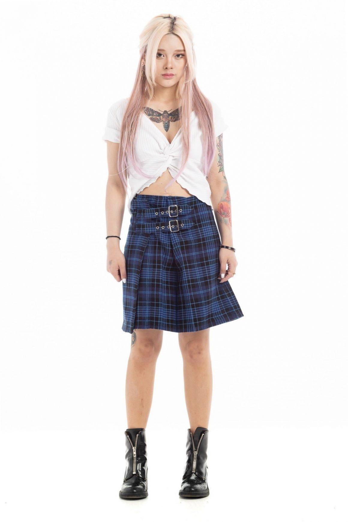 Modern Tartan Plaid Skirtss